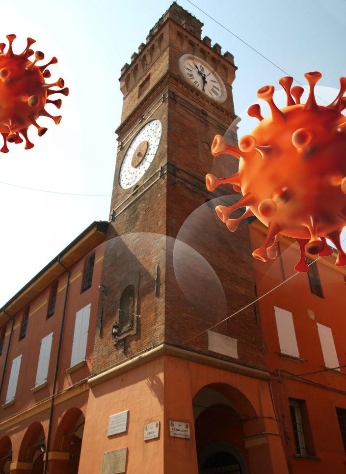torre-Orologio-Medicina zona rossa covid-19